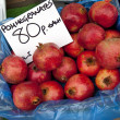 Pomegranates - Market Stall - Stock Photo