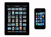 Apple iPad2 - iphone4 — Stock Photo