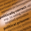Stock Photo: Politically Correct - Dictionary Definition