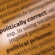 Politically Correct - Dictionary Definition - Stock Photo