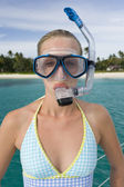 Teenage giril on vacation — Stock Photo