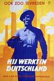 German War Propaganda Poster — Stock Photo