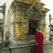 Buddhist Shrine - Kathmandu - Nepal - Stock Photo
