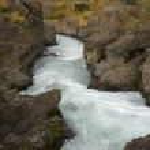 Bridge over Hvita River - Hraunfossar - Iceland — Stock Photo