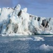 Icebergs in Jokulsarlon glacier lagoon - Iceland — Stock Photo