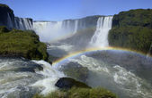 Iguazu Falls on Brazil - Argentine border — Stock Photo