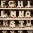 Wooden Toy Letters — Stock Photo