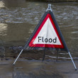 Flood Warning - England — Stock Photo