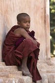 Novice Monk - Bagan - Myanmar — Stock Photo