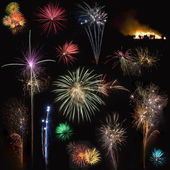 Fireworks for cutout — Stock Photo