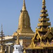 Shwezigon Pagoda complex - Bagan - Myanmar - Stock Photo