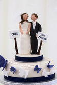 Wedding Cake Decoration — Stock Photo