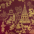 Stock Photo: Temple Wall Painting - Chiang Mai - Thailand