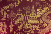 Temple Wall Painting - Chiang Mai - Thailand — Stock Photo