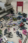 Buddhist Temple - Remove Shoes - Burma — Stock Photo