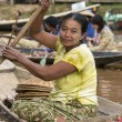 Burmese Woman - Inle Lake - Myanmar — Stock Photo
