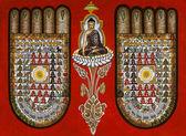 Buddhism - Burmese Sand Painting — Stock Photo