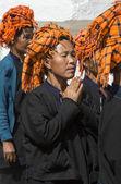 PaO Women at Prayer - Myanmar — Stock Photo