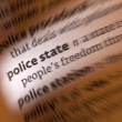 Police State - Dictionary Definition — Stock Photo