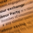 Stock Photo: Labour Party - Dictionary Definition