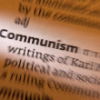 Communism - Dictionary Definition — Stock Photo