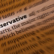 Conservative - Dictionary Definition — Stock Photo