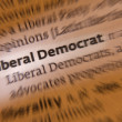 Stock Photo: Liberal Democrat - Dictionary Definition