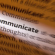 Communicate - Dictionary Definition — Stock Photo
