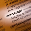 Contempt- Dictionary Definition — Stock Photo
