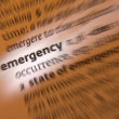 Emergency - Dictionary Definition — Stock Photo #29689389