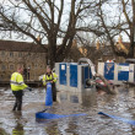 Yorkshire Flooding - England — Stock Photo