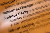 Labour Party - Dictionary Definition — Stock Photo