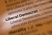 Liberal Democrat - Dictionary Definition — Stock Photo