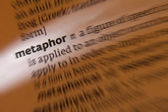 Metaphor - Dictionary Definition — Stock Photo