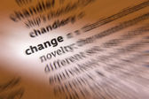 Change - Dictionary Definition — Stock Photo