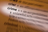 Crime - Dictionary Definition — Stock Photo