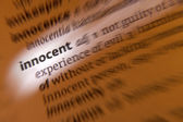 Innocent - Dictionary Definition — Stock Photo