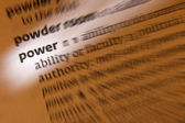 Power - Dictionary Definition — Stok fotoğraf