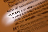 Ecstasy - Dictionary Definition — Stock Photo