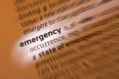Emergency - Dictionary Definition — Stock Photo