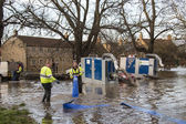 Yorkshire Flooding - England — Stock Photo