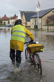 Inondazioni Yorkshire - Inghilterra — Foto Stock