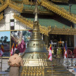 Stock Photo: Shwedagon Pagodcomplex - Myanmar (Burma)