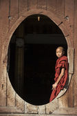 Novice Monk - Nyaungshwe - Myanmar (Burma) — Stock Photo