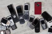 Old Mobile Phones - Cell Phones — Stock Photo