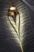 Обручальное кольцо - Тень сердца — Стоковое фото