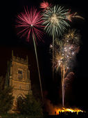 Firework Display on 5th November - England — Stock Photo