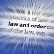 Law and Order — Foto Stock