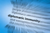 Diplomatic immunity — Stock Photo