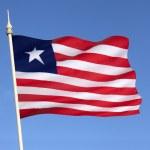 Flag of Liberia - Flag of Convenience — Stock Photo